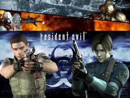 Resident Evil Leon Kennedy and Chris Redfield by UndeadTeddy