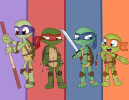 TMNT 2012 .My First Drawing. by shadcream4eva