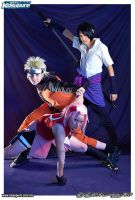 team 7 cosplay pose by manolo-kun