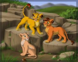 Three cubs by Sirzi