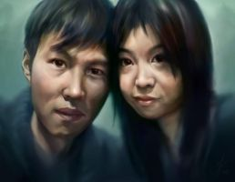 Couple Portrait by Muzuen