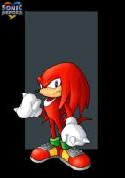 knuckles the echidna  -  commission by nightwing1975