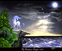 The last unicorn and the sea by chrissi-dinos