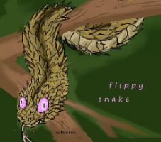 flippy the snake?! by sidca