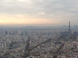 View of Paris by ChocolateChocobo89
