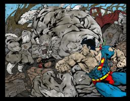 Superman Vs Doomsday by Plugin848y