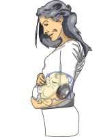 mom and music baby by akoor