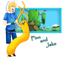 Finn and Jake by Pandi-Mar