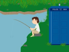 The Doctor fishing --edited-- by whosname
