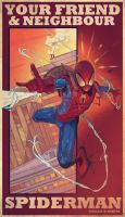 Your friend and neighbour Spiderman by thenota