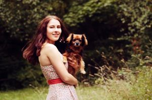 A girl and her dog by Arwey