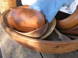 Wooden Bowls by theoracleofdreams