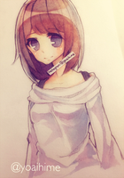 white sweater by Yoai