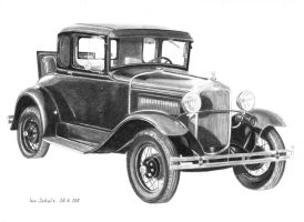 Dillinger's 1930 Ford Model A by shaman-art