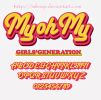 font GIRLS`GENERATION  - My oh My by Milevip