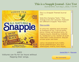 Snapple Journal by Nessarie