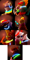 Mini leaders Rave  nonanimated by The-Chibster