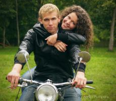 motorcycle love II by Red-passion