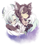 Maybe our tails aren't great pillows afterall. by Quartette
