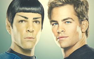 Spock and Kirk by K-EAR-AH