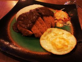chicken katsu curry rice by fatal-complexes