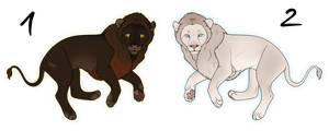 Lion Adoptables CLOSED by i3nici