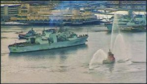 HMCS Toronto Comes Home to Halifax Harbour by ShawnaMac