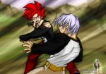 Celari and Trunks fight by Rider4Z
