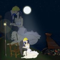 Naruto Hinata Wedding Night by creepingninja