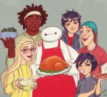 Big Hero 6 Thanksgiving by twinklepug