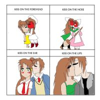 Kissing meme South Africa x Romano by ask-South-Africa