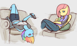 Dash+Flutters Lounging by poptart36