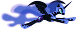 Nightmare Moon Flying by 90Sigma