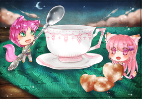 :CB: Pink Night Teaparty! by XMireille-chanX