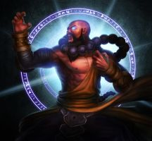 Diablo III - Shouting Monk by Gubrutsky2011