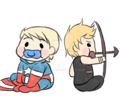 Baby Steve and Clint :3 by SourBears