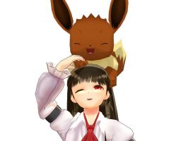 MMD  - Ib - or Eve - And Eevee by Deceitful96