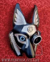 Custom Industrial Anubis with blue eye by merimask