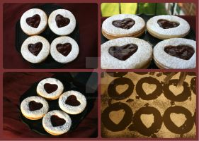 Linzer Cookies by RuusuMorningstar