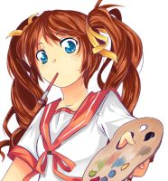 Art trade: Mikan by cupturtle
