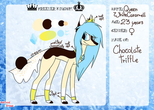 Queen WhiteCaramell - Reference Sheet by SpikesGirlfriend