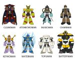 8 Robot Masters by SomethingSyndicated