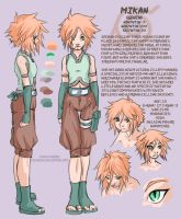 Naruto OC - Mikan - char sheet by askerian
