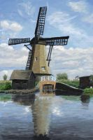 Practice 0064 Dutch Windmill 2 after dierat-stock by ludwig-a