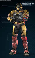 Toa Mata Tahu (with Golden Armor) - Spartan v. by Lopez-The-Heavy