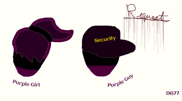 Request: Purple Girl and Purple Guy by DigiArt77