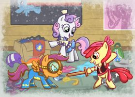 Playing Dress Up by BuckingAwesomeArt