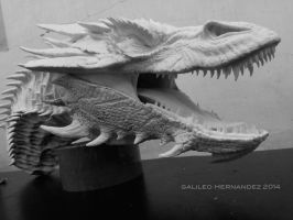Dragon resin casting close up by GalileoN