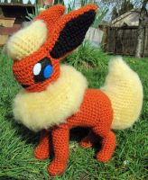 Flareon by NerdyKnitterDesigns