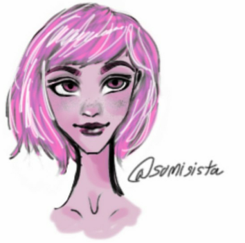 pink girl by somisistaA